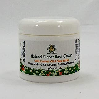 Diaper Rash Cream 4 Ounce. All Natural Diaper Rash Treatment with Organic Preservative. Helps Heal, Sooth and Protect Tiny Heinies.