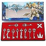 Kingdom Hearts Sora Keyblade 12 Set Keychain Necklace Collection Box 2016 (Silver 12pcs