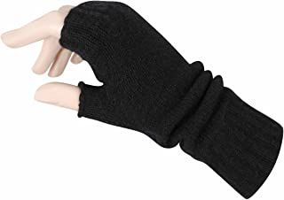 Women's Fingerless Mitts Pure Cashmere Made in Scotland