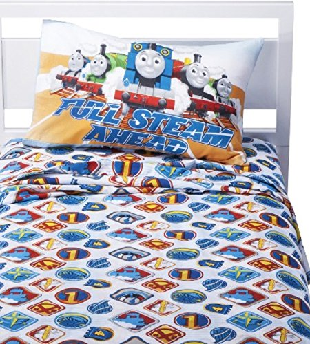 Thomas And Friends Bedding 3 Piece Twin Sheet Set - Full Steam Ahead