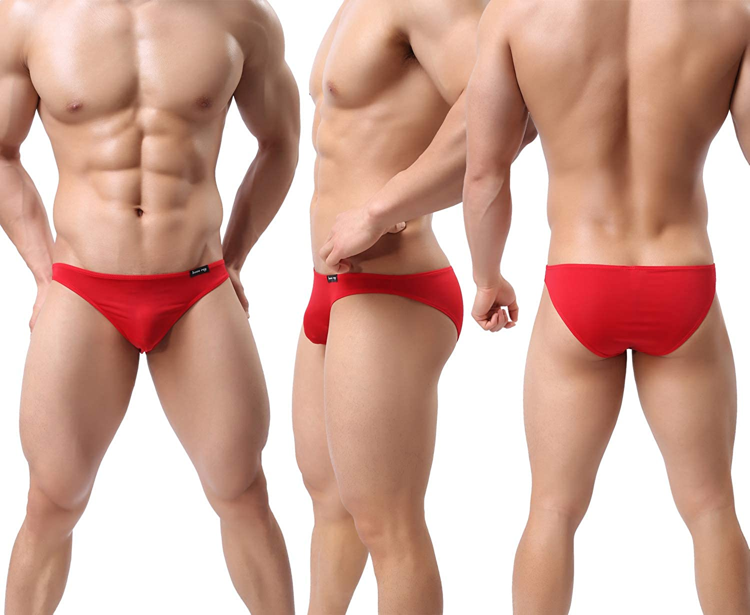 WINDAY Men Briefs Breathable Ice Silk Triangle Bikinis and Briefs D318