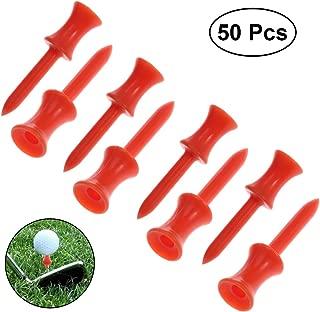 LIOOBO 50pcs 48mm Large Castle Golf Tees (Orange)