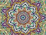 Puzzle 1000 Piezas para Adultos De Madera Niño Rompecabezas-Mandala Morado Oscuro-Juego Casual De Arte DIY Juguetes Regalo Interesantes Amigo Familiar Adecuado