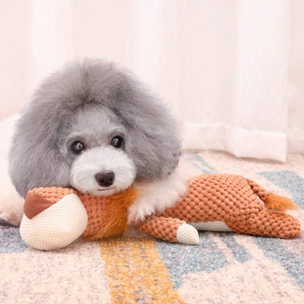 Xmiral Giocattolo interattivo di Peluche Cat Squeaker Sound Chew Fetch del Cucciolo del Cane del Cucciolo dellanimale Domestico 28cm,Arancia