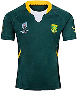 CASUALBOYS Rugby Jersey South Africa Home Away 2019 World Cup Tracksuits Football Soccer Training T-Shirt Breathable