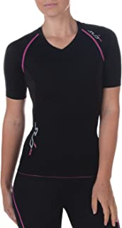 Womens Compression Short Sleeve Top Vest Running Gym Yoga Recovery