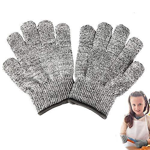 Schnittsichere Handschuhe für Kinder – Leistungsfähiger Level 5 Schutz, lebensmittelecht, Geeignet für 3-5 Jährige, XXXS
