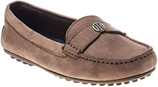 Chain Moccasin Womens Shoes Tan