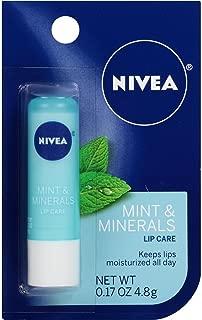 NIVEA Mint & Minerals Lip Care 0.17 oz (Pack of 4)