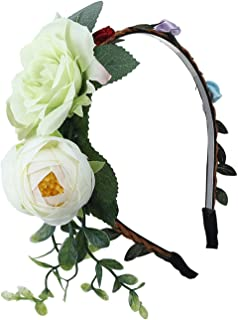 New Rosebud Bridal Bridesmaid Wedding Holiday Bezel Women Turban Hair Girls Headwear,light green