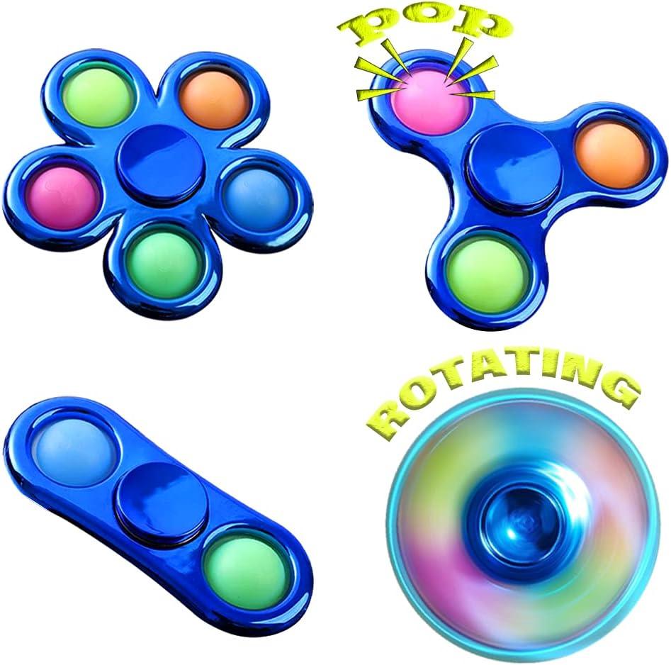 HEYTOP Push Bubble Simple Fidget Popper Spinner,Dimple Fidget Sp