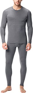 Men's Thermal Underwear Long John Set Fleece Lined Base Layer Top and Bottom M11