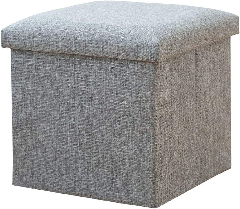 Storage Stool Adult Sofa Small Stool Home Fashion Creative Storage Box (Size   25cm)