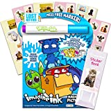 Lost Kitties Imagine Ink Coloring Book Set for Toddlers Kids -- Mess Free Coloring Book with Games, Magic Invisible Ink Pen and 100 Kitten Stickers Series