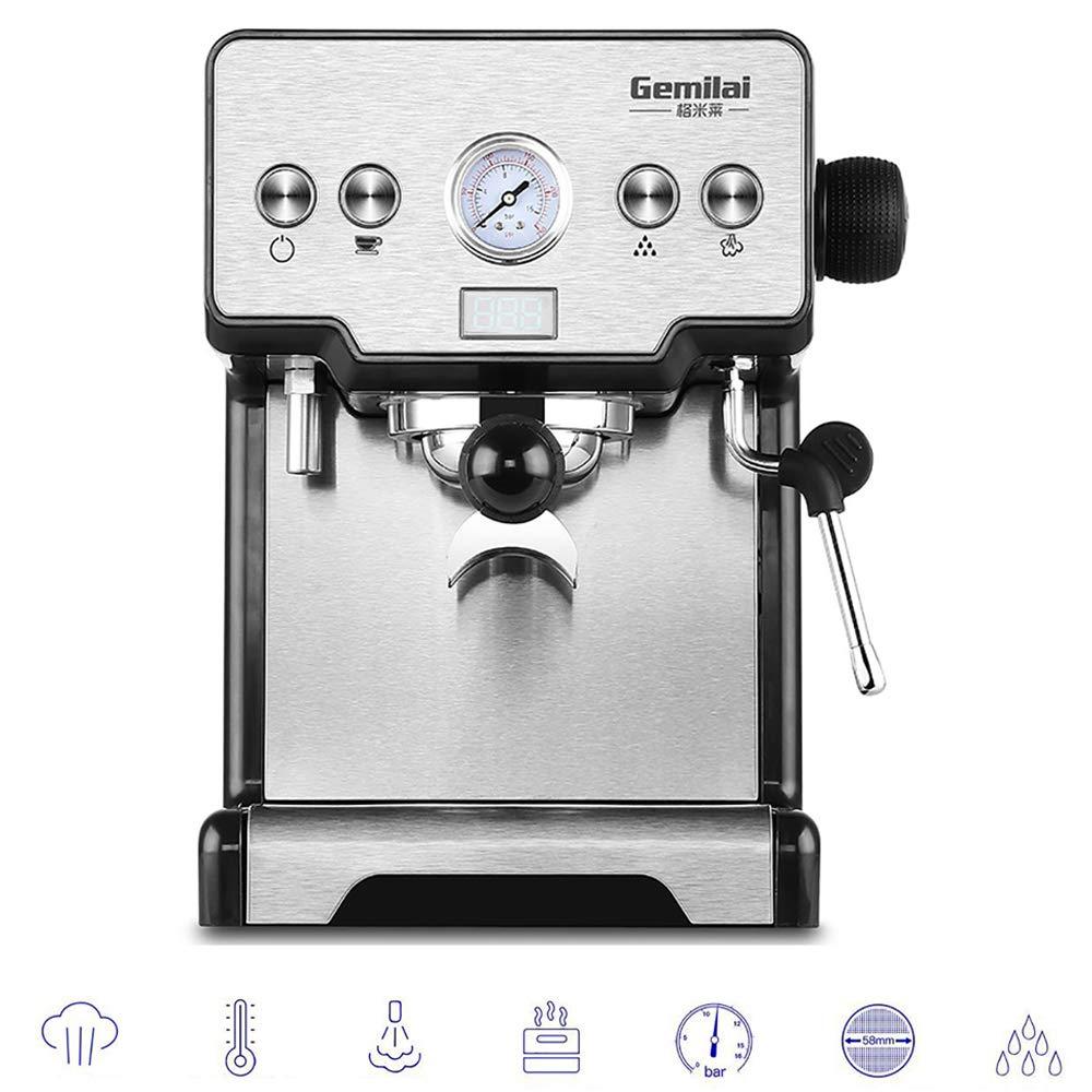 Máquina de café Espresso Máquina para Hacer capuchinos Semiautomática Sistema de Salida de 1-2 Tazas 15 Bar 1.7 L 1450w Cafetera eficiente con Filtro de Acero Inoxidable y vaporizador de Leche: Amazon.es: Hogar