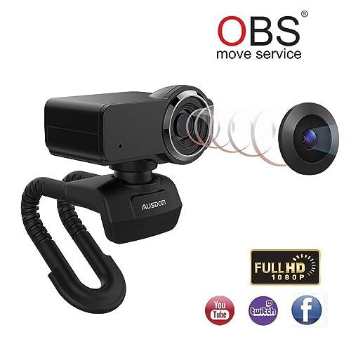 Ausdom Full HD Webcam 1080p, Cámara de streaming en vivo, USB Webcam para Xbox