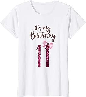 Birthday Shirt Girl, Cute It's my 11th Birthday 11 Years Old