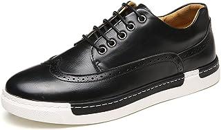 [QIFENGDIANZI] 紳士靴 メンズ ワインレッド ブラック カーキ ヨーロッパ風 おしゃれ レトロ デッキシューズ ウィングチップ コンフォート 通気性 パーティー 通勤 24.0cm-26.5cm