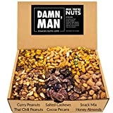 Assorted Nuts Gift Box Set - Bar Mix Includes Six Unique Flavors Made From Cashews, Almonds, Pecans, Peanuts – Great Birthday Gift Basket – Freshly Made in Small Batches – 24oz