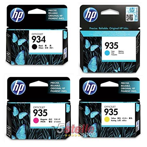 Multipack 4 Cartucce HP ORIGINALI 934 NERO + 935 COLORI C2P19AE C2P20AE C2P21AE C2P22AE
