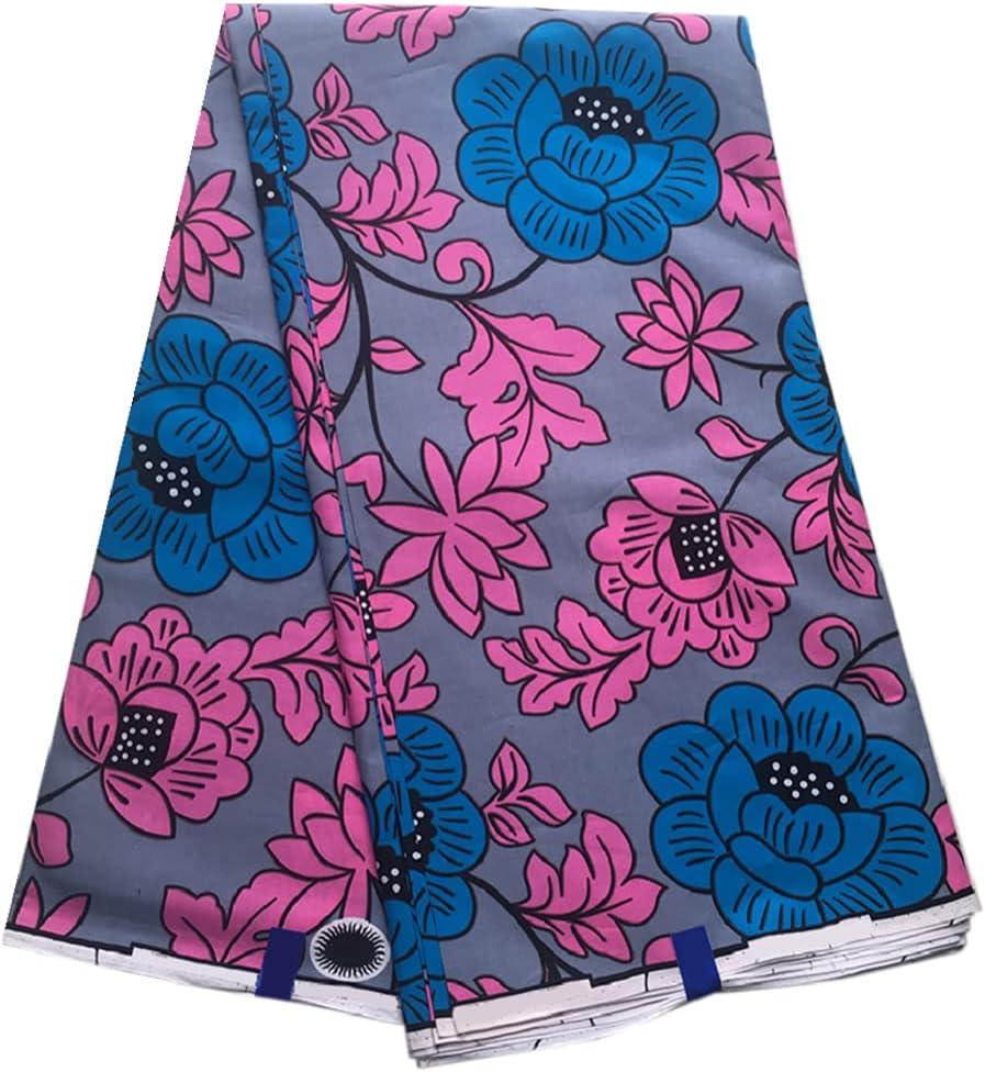 African Wax Cotton Brand new Fabric Printed Waxed Ankara Daily bargain sale 6 Brocade