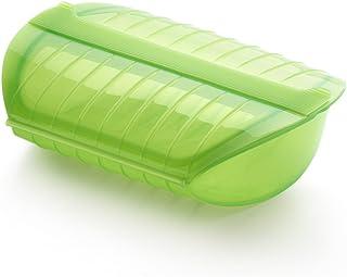 Lékué - Estuche de vapor con bandeja, 3-4 personas, color verde