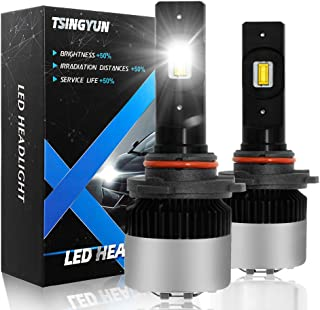 9012 HIR2 LED Headlight Bulbs High/Low Beam LED Fog Light Bulbs All-in-One Conversion Kit Adjustable Beam 9600LM 6000K Cool White