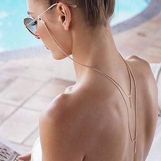 Yienate Boho Chaînes à glands avec pendentif en alliage pour lunettes antidérapantes Chaîne de lunettes, accessoires de re...