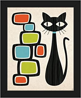Best mid century cat wall art Reviews