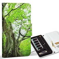 スマコレ ploom TECH プルームテック 専用 レザーケース 手帳型 タバコ ケース カバー 合皮 ケース カバー 収納 プルームケース デザイン 革 写真・風景 写真 森 植物 005452