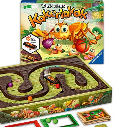 Ravensburger - 20548 - Mein erstes Kakerlakak - Aktionspiel mit elektronischer Kakerlake für die Kleinen, Kinderspiel für 2-4 Spieler, geeignet ab 3 Jahren