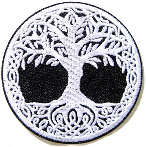 Tree of Life Heaven Evolution Celtic Religion Patch Iron on Sew Embroidered Applique Logo Badge Sign Symbol Embelm Craft Costume Gift
