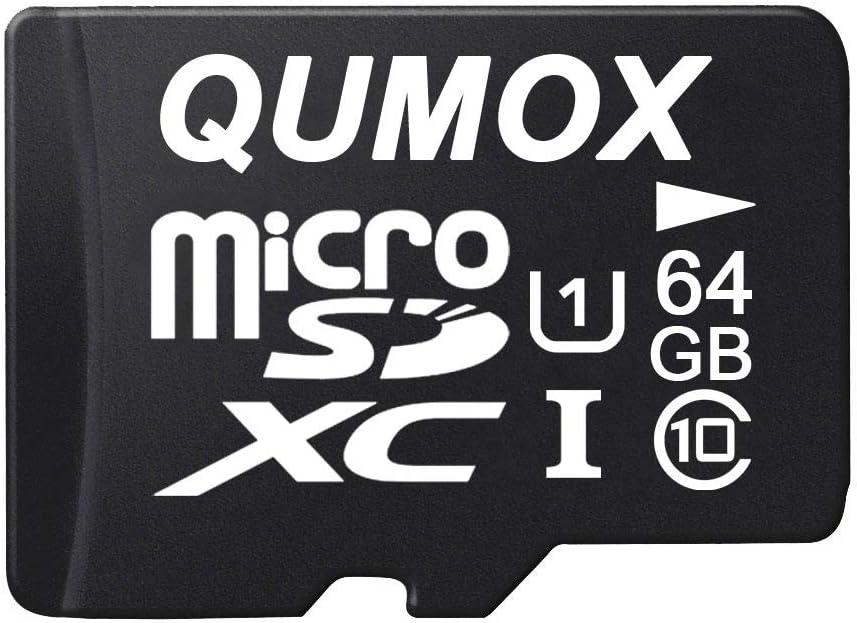 QUMOX 64GB MICRO SD MEMORY CARD CLASS 10 UHS-I 64 GB HighSpeed Write Speed 40MB/S Read Speed Upto 80MB/S
