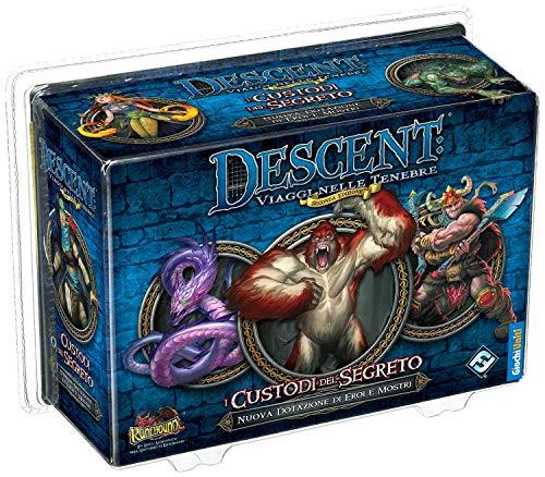 Giochi Uniti- Descent Seconda Edizione: I Custodi del Segreto Gioco da Tavolo, Multicolore, 1