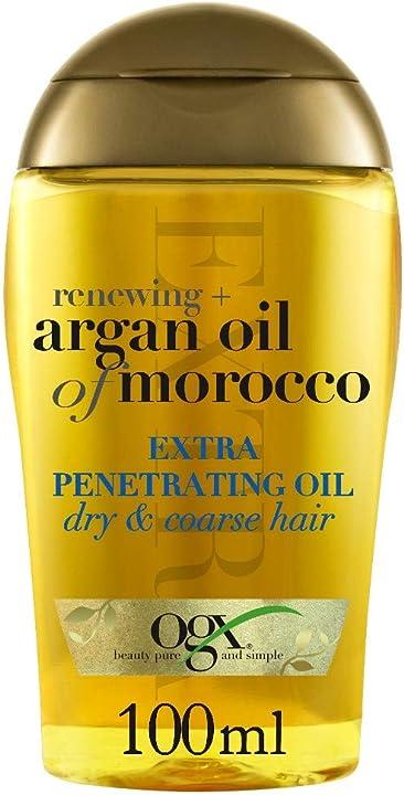 Ogx, olio per capelli a forte penetrazione, renewing + argan oil of morocco capelli secchi e ruvidi 97616