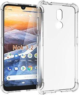 Nokia 3V Case, Nokia 3.2 case,PUSHIMEI Soft TPU Crystal Transparent Slim Anti Slip Full-Body Protective Phone Case Cover f...