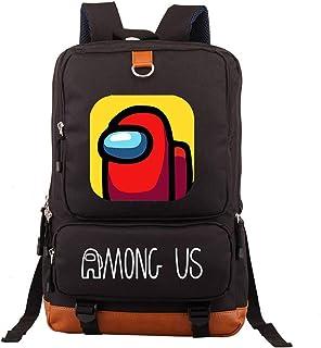 Among Us Bag, Mochila escolar para niños y niños jugadores de deportes entre nosotros bolsa para niños mochila negra mochila para ordenador portátil de los niños de dibujos animados de color impreso mochila mochila mochila para libros