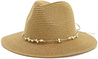 SXQ Summer Handmade Straw Hat Women's Outdoor Travelling Wide-brimmed Beach Hat Ladies' Sun Hat With Braided Rope Decoration Foldable Sunproof Straw Hat UV Protective Panama Hat Visor For Vocation Sea