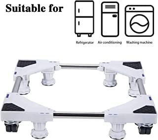 LUCKUP Multi-functional Movable Adjustable Base with 4 Locking Rubber Swivel Wheels and 8 Strong Feet Size Adjustable Universal Mobile Case Roller Dolly for Dryer, Washing Machine and Refrigerator …