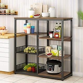 Rangement Cuisine Organisateur étagère Utilitaire Rack de cuisine Baker étagère de rangement polyvalent à 4 étages + 4 Niv...