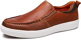 Men's Fashion Leather Sneaker Casual Shoes for Men Black/Brown