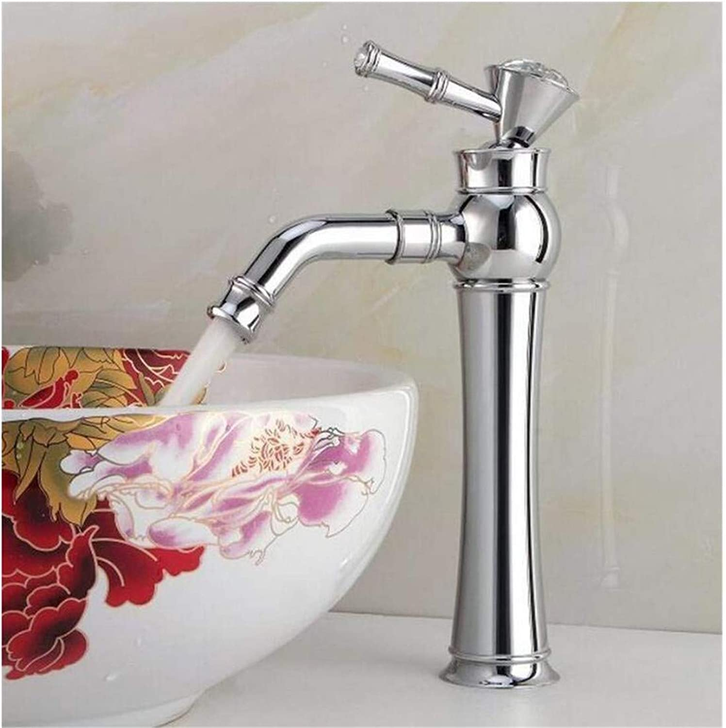 High Quality Vintage Stainless Steel Modern Chrome Plated Single Hole Washbasin Tap Artistic Basin Faucet