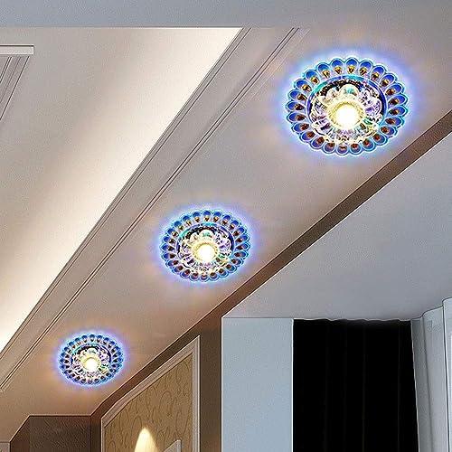 XQY Plafonnier de chambre à coucher à la maison, plafonniers en cristal modernes Plafonniers Plafonnier Creative Aisle Balcon Entrée Plafond Plafonnier Plafonnier Downlumière Design Moderne Luminaire D