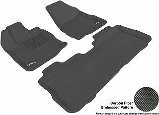 3D MAXpider Complete Set Custom Fit All-Weather Floor Mat for Select Chevrolet Equinox/GMC Terrain Models - Kagu Rubber (Black)