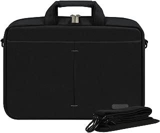 Arvok 15-16 Inch Laptop Bag Multifunctional Briefcase Water-Resistant Sleek Fabric with Handle and Shoulder Strap/Notebook Messenger Carrying Case, Black