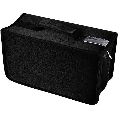 alavisxf xx Estuche para CD, Estuche de Almacenamiento de CD de Gran Capacidad de Nailon de 160 capacidades, Soporte para Billetera de Disco portátil para Viajes en automóvil(Negro)