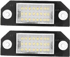 Luz de la placa de la licencia - 1 par de 24 perlas LED Lámpara de la luz de la placa de la LED para Ford C-MAX Focus MK2.