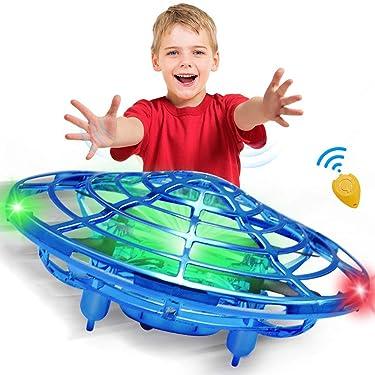 CPSYUB - Drones de mano para niños o adultos, juguetes para niños de 4, 5, 6, 7, 8, 9 y 10 años de edad, para niños y niñas, fácil de interior, pequeño OVNI Flying Ball Drone Juguetes para niños y niñas (azul)