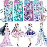 IMNEXT2U Reusable Puffy Sticker Dress-Up Princess 4 Packs