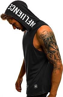 QinMM Camiseta con Capucha de Tirantes Deportes para Hombre